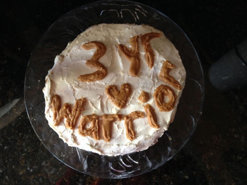 3 Year Warrior cake